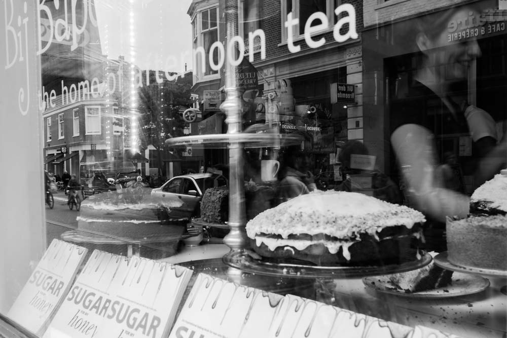 Haarlem, Afternoon Tea, Black and White Photography